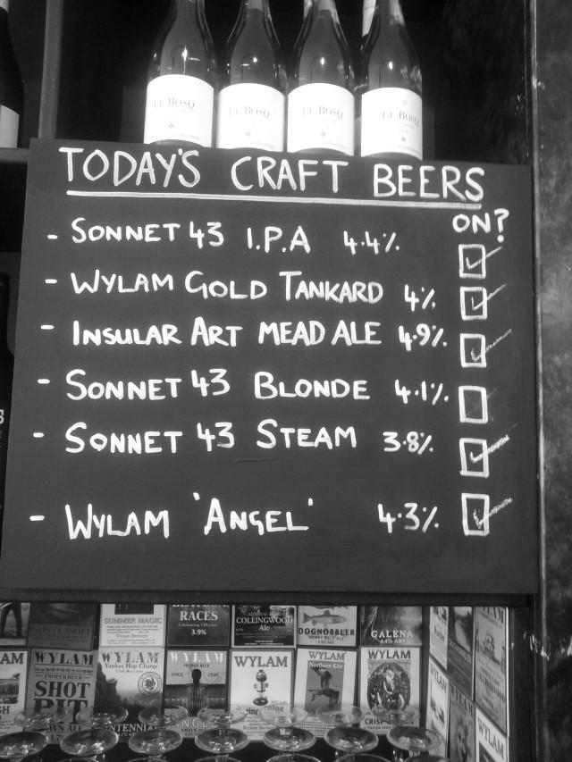 todays beers